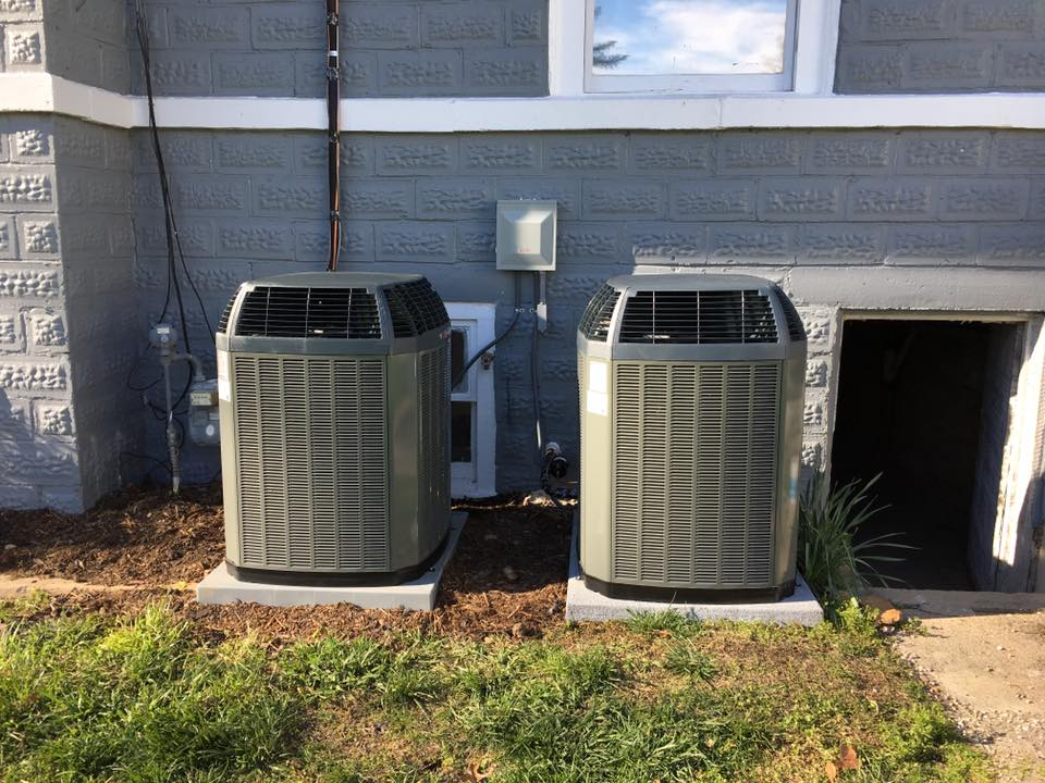 CAM Heating & Cooling some of our work, units outside a building